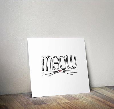 Plaquinha Infantil - Meow Gato
