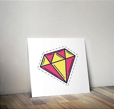 Plaquinha Infantil - Diamante