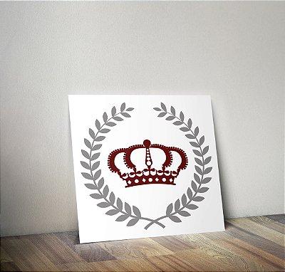 Plaquinha Infantil - Coroa Louros