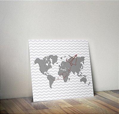 Plaquinha Infantil - Mapa
