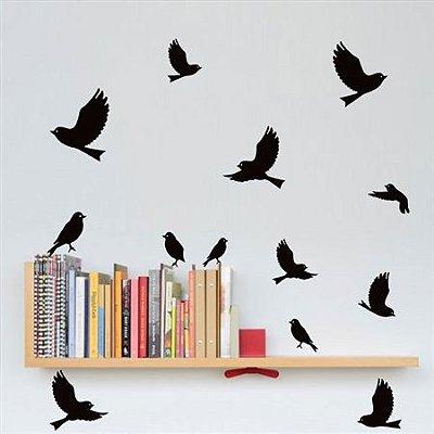 Adesivos de Pássaros Voando