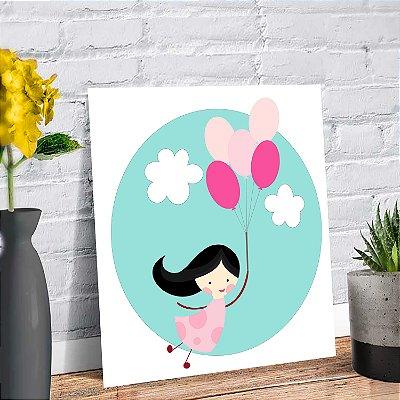 Placa Decorativa Decoração Infantil Menina