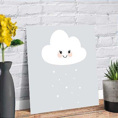 Placa Decorativa Decoração Infantil Nuvem