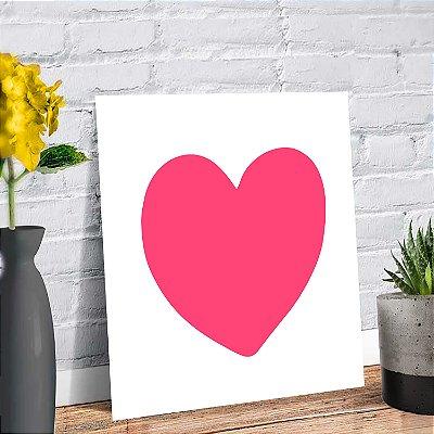 Placa Decorativa Decoração Infantil Coração