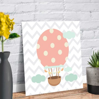 Placa Decorativa Decoração Infantil Balão