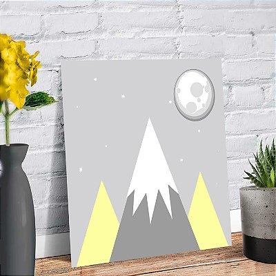 Placa Decorativa Decoração Infantil Montanha