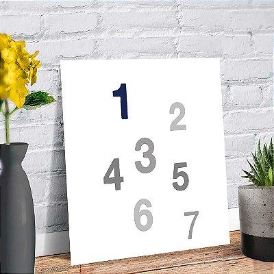 Placa Decorativa Decoração Infantil Números