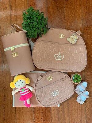 Kit Bolsa Maternidade Gold Rosé