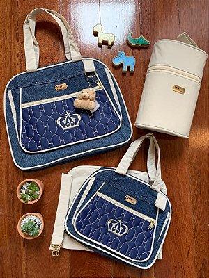 Kit Bolsa Maternidade Premium Azul Marinho