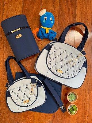 Kit Bolsa Maternidade Diamond Azul