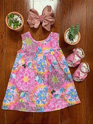 Vestido Butterfly Rosa
