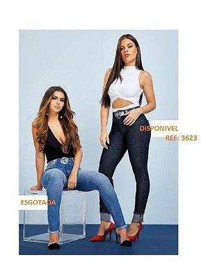 Calça jeans feminina skinny cintura média  ( Frete Grátis para o Estado de SP )