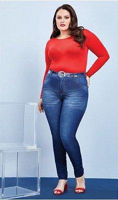Calça jeans plus size feminina skinny cintura alta biotipo   ( Frete Grátis para o Estado de SP )