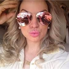 Óculos Ray ban Aviador Rosè Espelhado