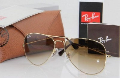 Ray ban Aviador Marrom Degrade
