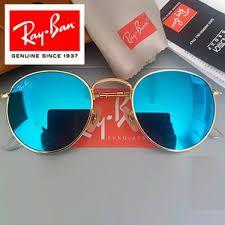 Óculos Ray ban Round Azul Espelhado Replica Primeira Linha