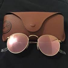 Óculos Ray ban Round Rosè Espelhado