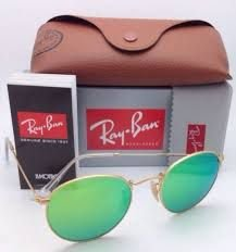 Ray ban Round Verde Espelhado
