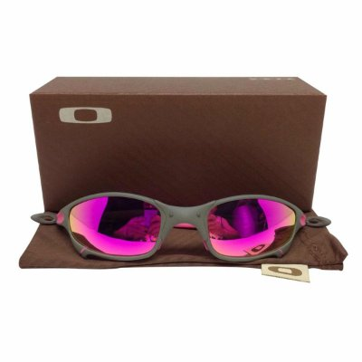 Oculos Oakley Juliet Xmetal Rosa Borrachinha Rosa Replica