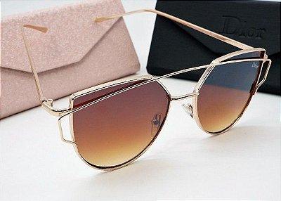 Óculos Dior Starlight Feminino Lentes Marrom