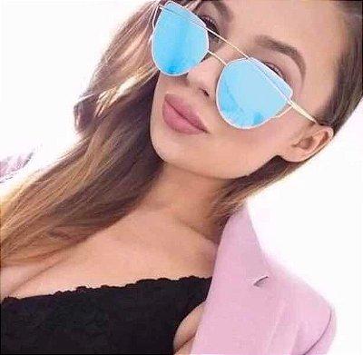 Óculos Feminino Barato Dior Starlight Lente Azul Espelhada