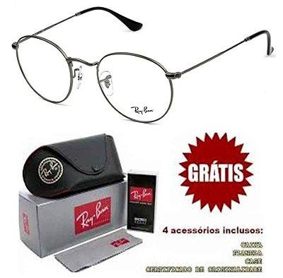 Armação Para Óculos de Grau Ray-ban Modelo Round Preto