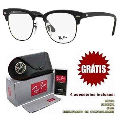 Armação Para Óculos De Grau Ray-Ban Clubmaster Unissex
