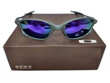 Oculos Oakley Double Xx Roxa Certificado + Teste