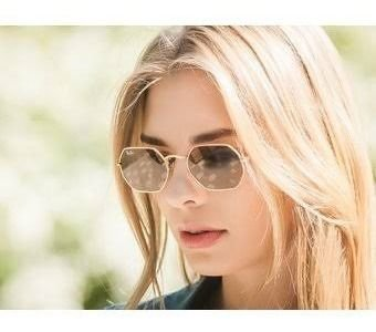Óculos Ray ban Octagonal Marrom