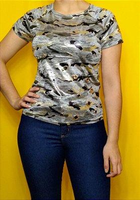 """T-shirt """"Camuflado cinza"""""""