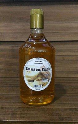 Cachaça Artesanal de fruta sabor Banana com Canela - 900Ml
