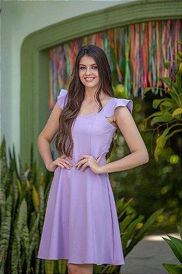 Vestido Kedy Closed Garden Evasê Lavanda
