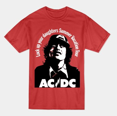 Camiseta AC/DC Tour 1975