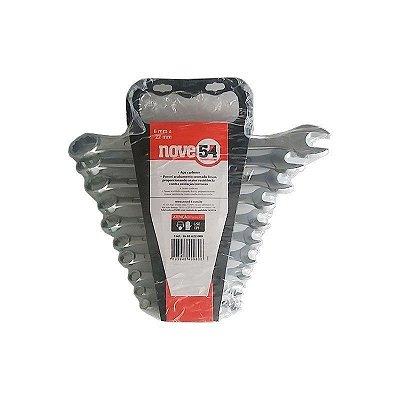 Jogo de chave combinada 6mm a 22mm com suporte plastico NOVE54