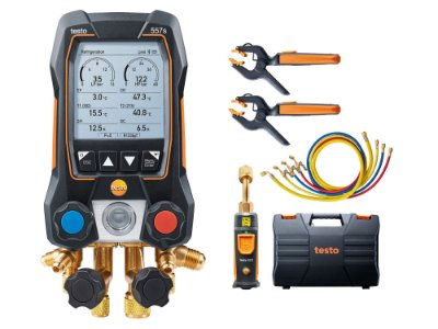 Testo 557S- Kit Smart Vacuo com mangueiras - Manifold digital, inclui 2x115i,1x 552i,4x mang, mal, man.e prot 05645572