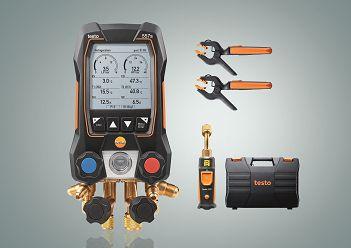 Testo 557s Kit Smart Vacuo - Manifold digital, inclui 2x 115i, 1x 552i, maleta, manual e proto de calibracao  05645571