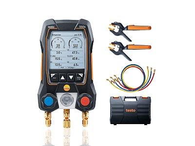 Testo 550s Kit Smart com mangueiras - Manifold digital, inclui 2x 115i, maleta, manual, prot e 3x mangueiras 05645503