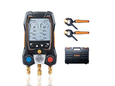Testo 550s Kit Smart - Manifold digital, inclui 2x 115i, manual e protocolo de calibraçao 05645502