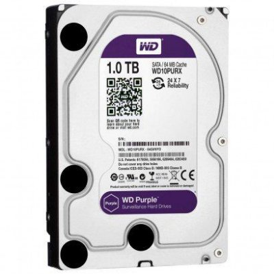 HD WD 1TB Purple SATA 6 Gb/s