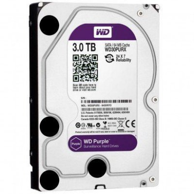 HD WD 3TB Purple SATA 6 Gb/s