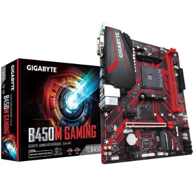 Placa-Mãe Gigabyte B450M Gaming, AMD AM4