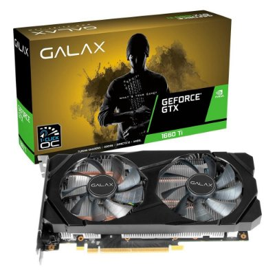 PLACA DE VÍDEO GALAX GEFORCE GTX 1660 TI, 6GB GDDR6