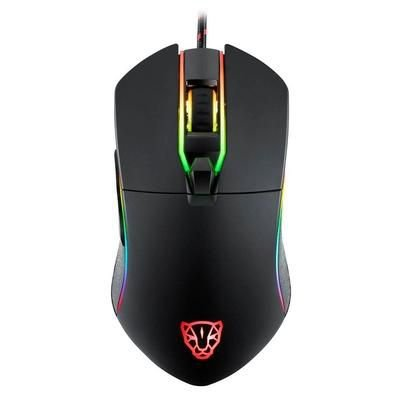 Mouse Gamer Motospeed V30 Preto RGB 3500DPI