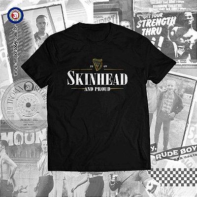Pré Venda Camiseta Skinhead & Proud