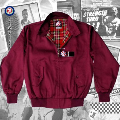 Jaqueta Harrington Warrior - Burgundy