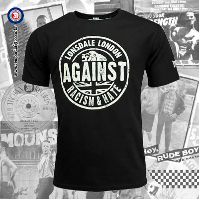 Camiseta Lonsdale Against Racism & Hate - Unissex