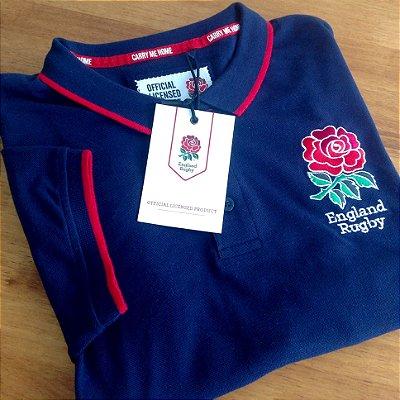 Polo Oficial England Rugby - Azul