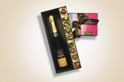 Pacquet Chocommelier Mumm Brut 750ml