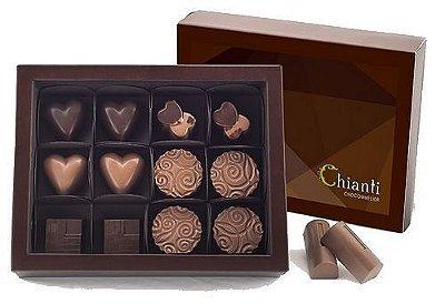 Caixa com 12 chocolates belgas sortidos