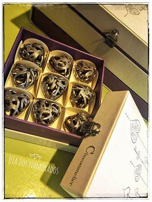 Caixa de Jóias - Bombons Rendados à Mão Dia dos Namorados